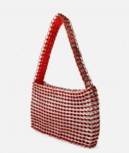 Socorro Pop Top Shoulder Bag- Red