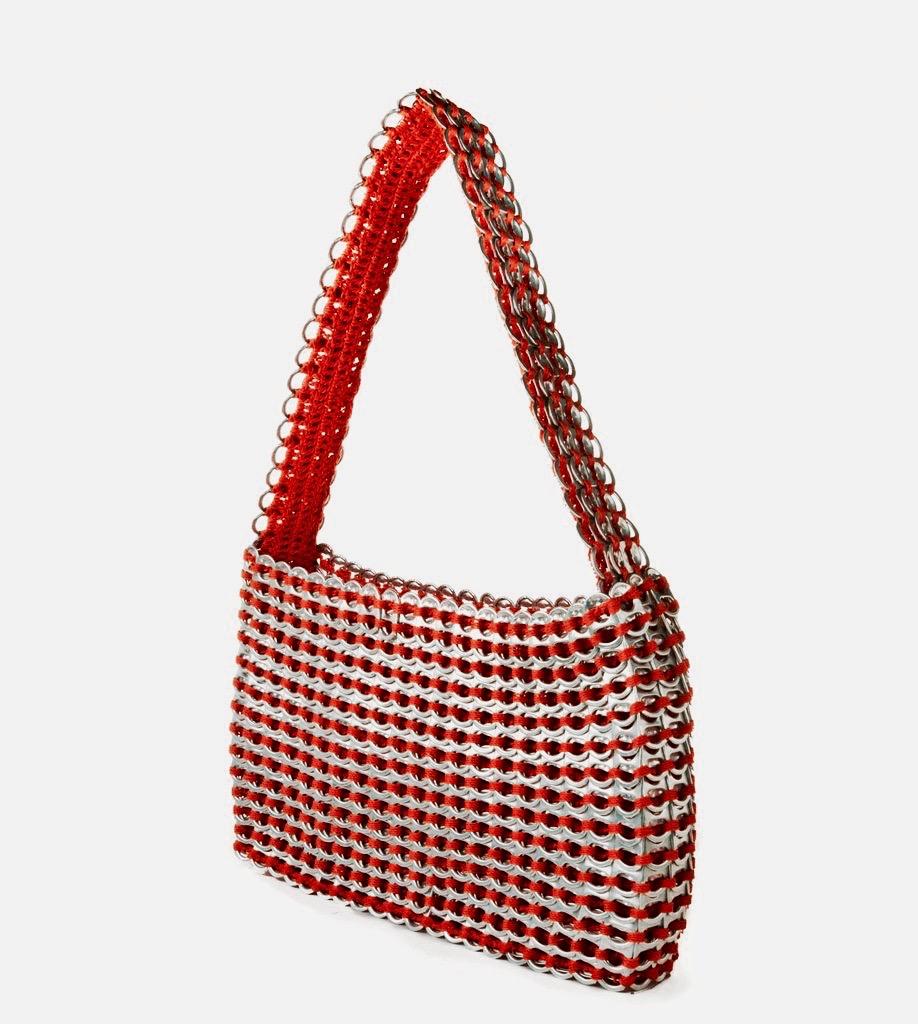 Socorro Pop Top Shoulder Bag- Red
