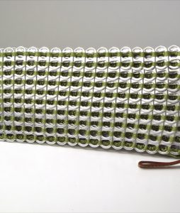 Tonia Soda Pull Tab Clutch in Olive