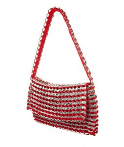 Francisca evening bag with fold over top - RED